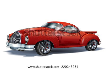 Sports retro car - stock vector