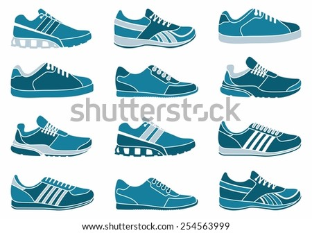 Sports shoes - stock vector