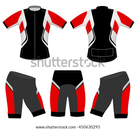 Sports t-shirt cycling vest vector design on a white background