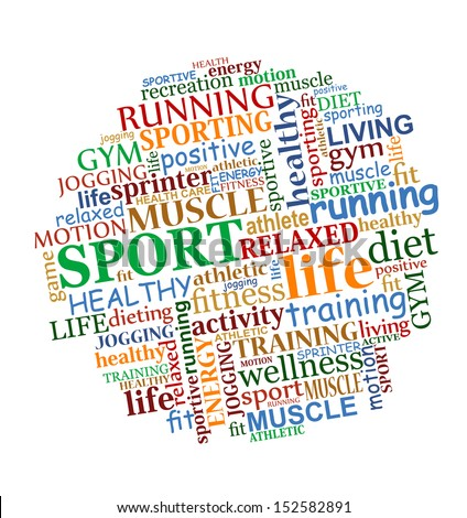 Sports tag cloud for web and another design. Jpeg version also available in gallery - stock vector