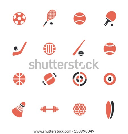 Sports theme icons - stock vector