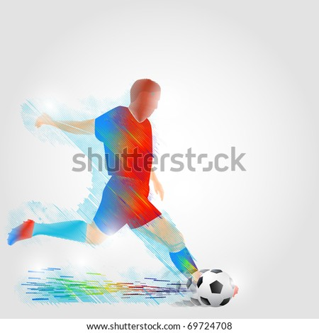 Sports training. Vector illustration. - stock vector