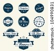 Sports Vector Set: Vintage Sports Labels for League Champions & All-Stars - stock vector
