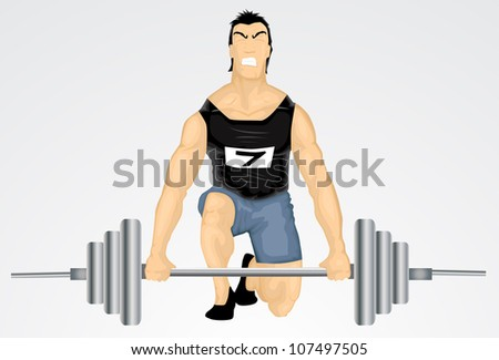 Sports: Weightlifting - stock vector