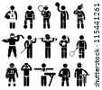 Sportswear Sports Attire Clothing Apparel Player Athlete Wear Shirt Stick Figure Pictogram Icon - stock vector
