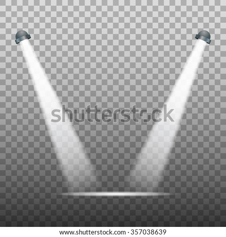 Spot light on transparent background - vector illustration