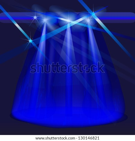 spotlight and laser background - stock vector