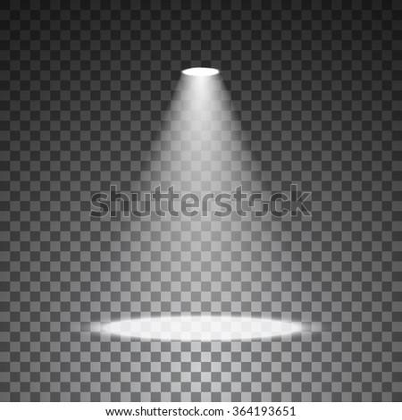 Spotlight On Transparent Background Stage Lights Stock Vector