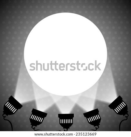 Spotlight projecting to blank wall vector eps 10 - stock vector