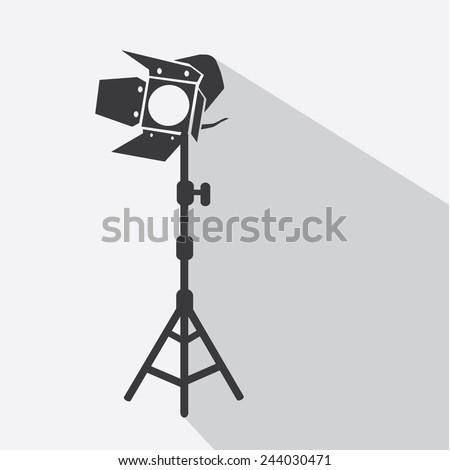 spotlight tripods vector icon - stock vector