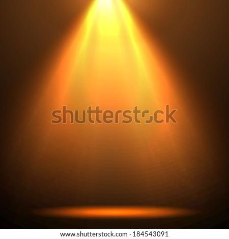 spotlight vector background - stock vector