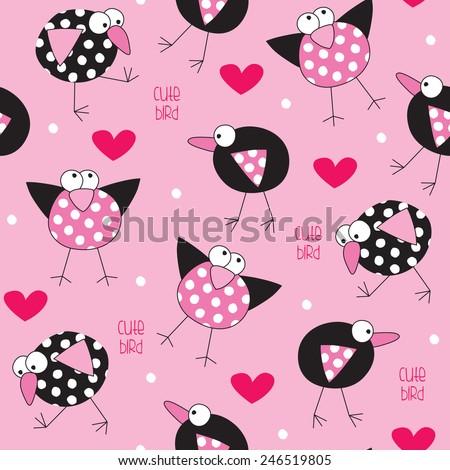 spotted bird pattern vector illustration - stock vector