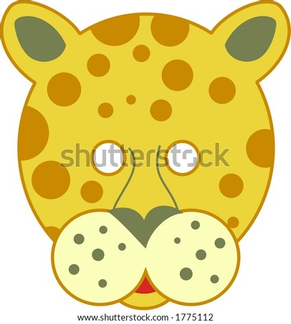 spotty leopard cutout mask - stock vector