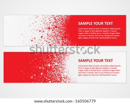 Spray banner with text - stock vector