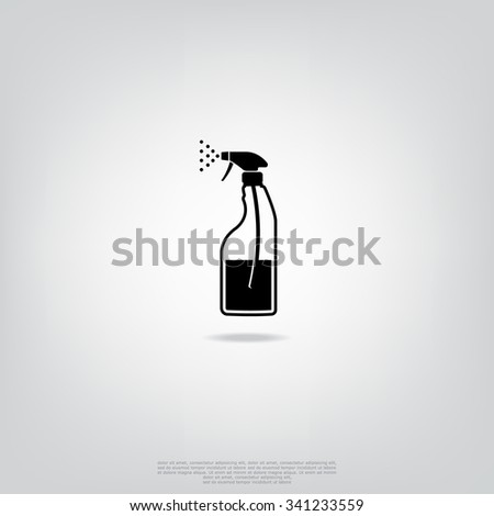 Spray bottle with cleaning liquid - stock vector