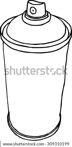 spray can hand drawn liquid line on a white background - stock vector