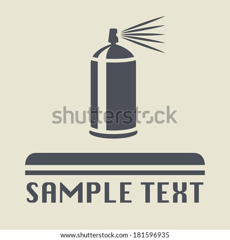 Spray can icon or sign, vector illustration - stock vector