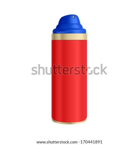 spray can on a white - stock vector