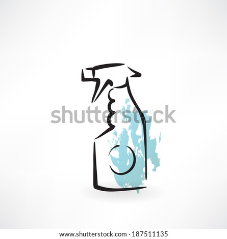 spray cleaning grunge icon - stock vector