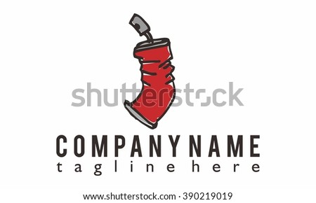 spray logo vector, abstract logo vector, spray icon illustration - stock vector