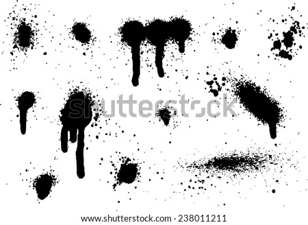 Spray Paint Elements Set 08 - stock vector