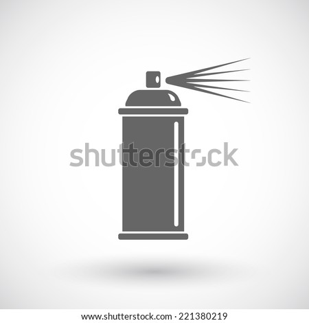 Spray paint line icon - stock vector