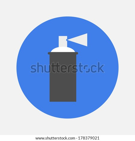 spray with paint icon - stock vector