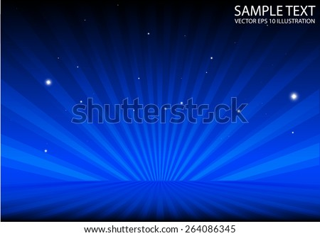 Spreading blue abstract background vector template - Abstract vector burst  blue background illustration template - stock vector
