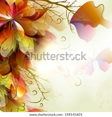 Spring abstract colorful background for your design