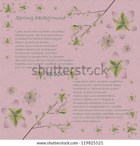 Spring abstract material pattern background