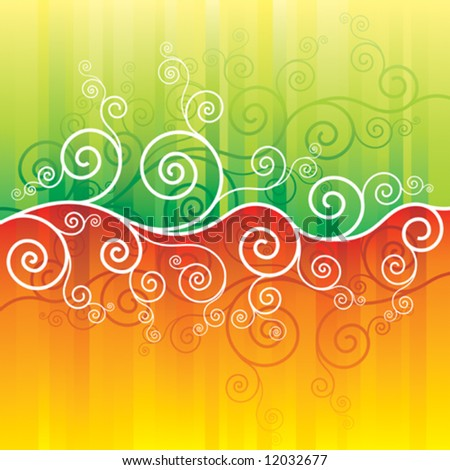 spring and summer abstract background, vector illustration with layers file - stock vector