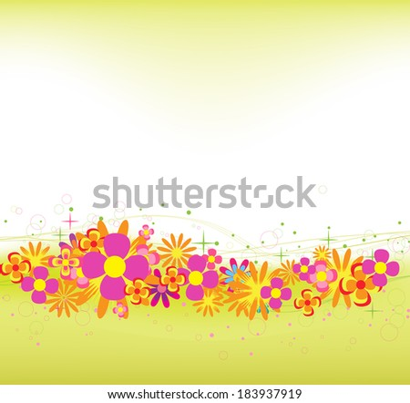 Spring and summer flower colorful background