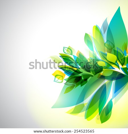 Spring and summer vector background. Abstract floral decorative elements. Season banner.