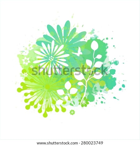 Spring Background - stock vector