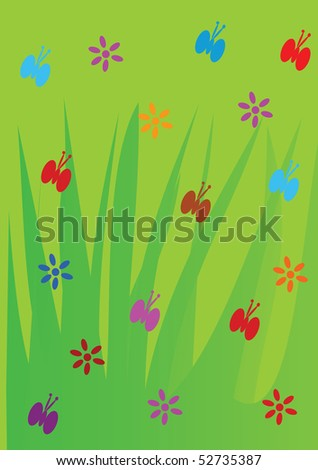 Spring background - vector illustration.