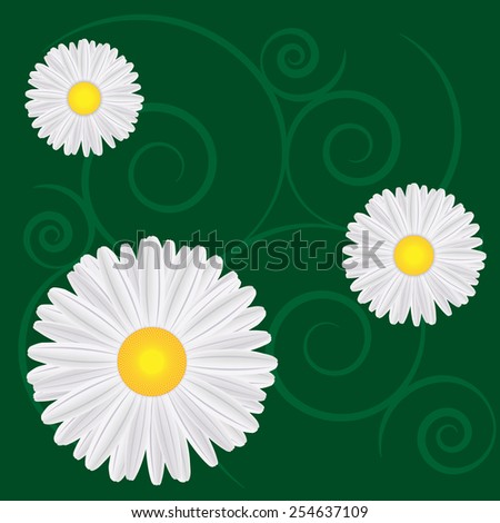 spring background with dandelions - vector illustration - stock vector