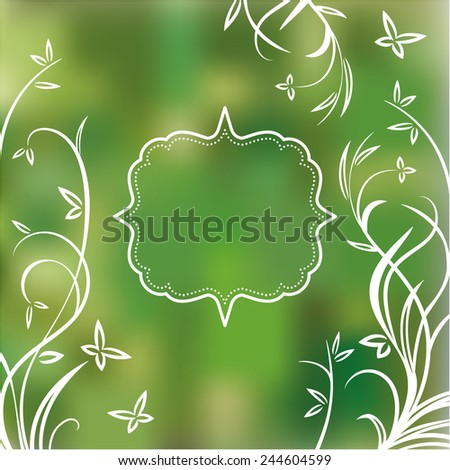 Spring background with frame for text - stock vector