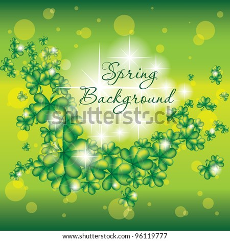 Spring background with lights. Vector illustration. Eps 10. - stock vector