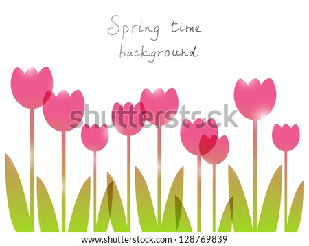 Spring background with place for text - stock vector