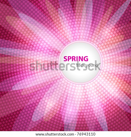 Spring background with space for Your text - stock vector