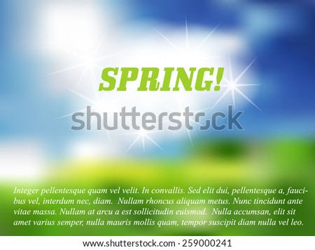 Spring blurred background - stock vector