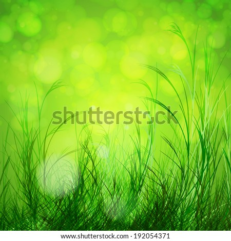 Spring bokeh background - stock vector