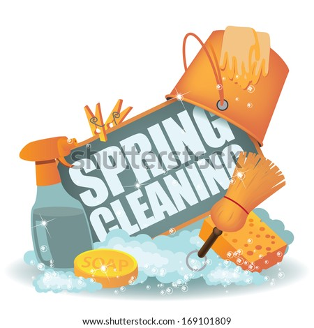 Spring Cleaning Icon. EPS 10 vector, grouped for easy editing. No open shapes or paths. - stock vector