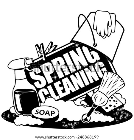 Spring Cleaning Icon EPS 10 vector royalty free stock illustration - stock vector