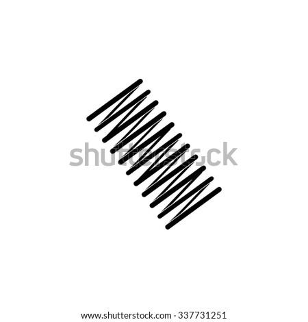 Spring coil icon design - stock vector