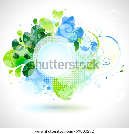 spring composition with place for text - stock vector