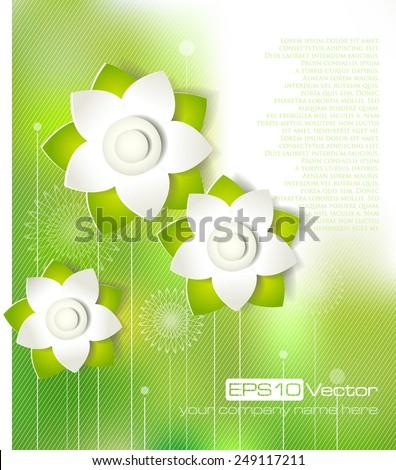 Spring cutout flower design. Vector illustration - stock vector