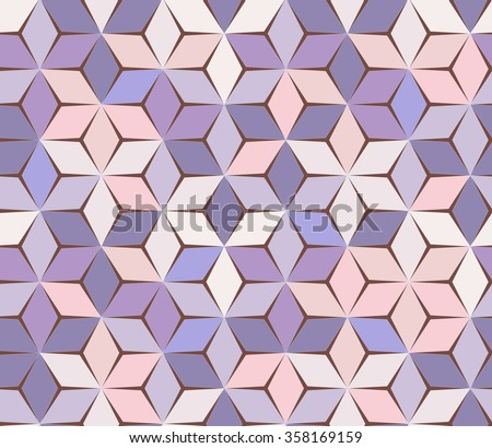 Spring feminine background. Geometric seamless pattern. Purple abstract backdrop. - stock vector