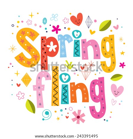 Spring fling - stock vector