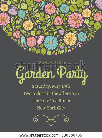 Spring Floral Invitation Two - stock vector